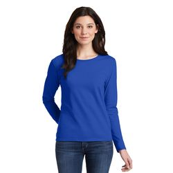 Gildan 100% Cotton Ladies Long Sleeve T-Shirt (5.3 oz.) Thumbnail