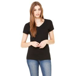 Bella + Canvas Ladies' 100% Cotton Slim Fit V-Neck T-Shirt (4.2 oz.) Thumbnail
