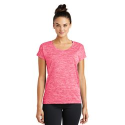 Sport-Tek® Ladies Electric Heather Crew Neck Performance Tee Thumbnail